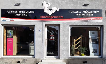 Devanture du magasin KT Aménagements 59